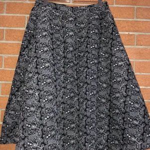 🖤J.O.A.🖤METALLIC PAISLEY FULL SKIRT🖤